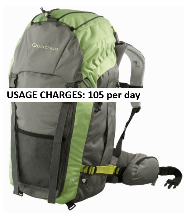 RENT QUECHUA Trekking bag 60 litres.