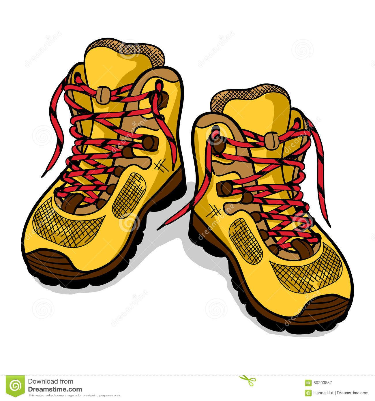 Image result for hiking boots clip art.