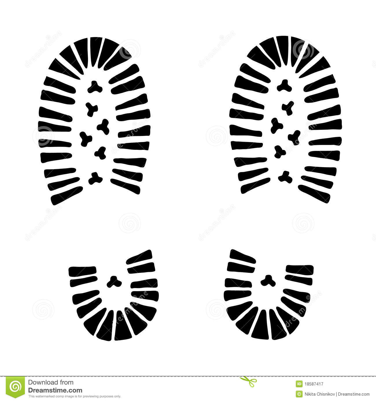 hiking boot footprint clipart - Clipground