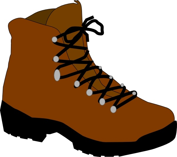 Hiking Boot clip art Free vector in Open office drawing svg ( .svg.