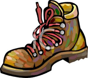 Clip Art Hiking Boots Clipart.