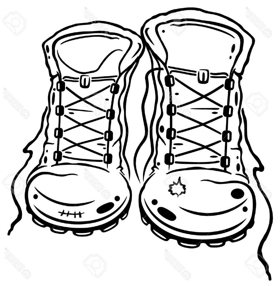 Hiking Boots Drawing at PaintingValley.com.
