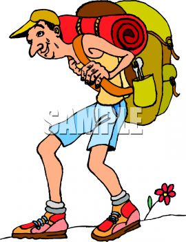 Hiking Guide Clipart.