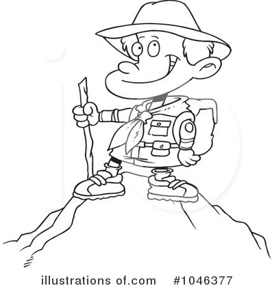 Hike Clipart Black And White.