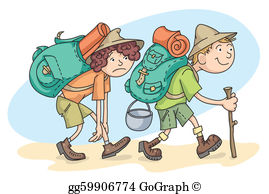 Hiking Clip Art.