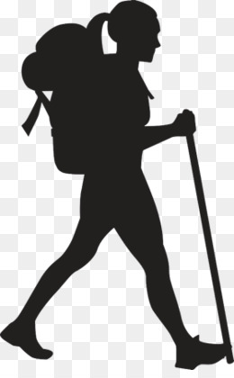 Hiking Silhouette PNG and Hiking Silhouette Transparent.