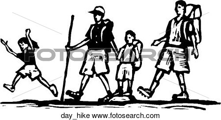 Day hiking clipart.