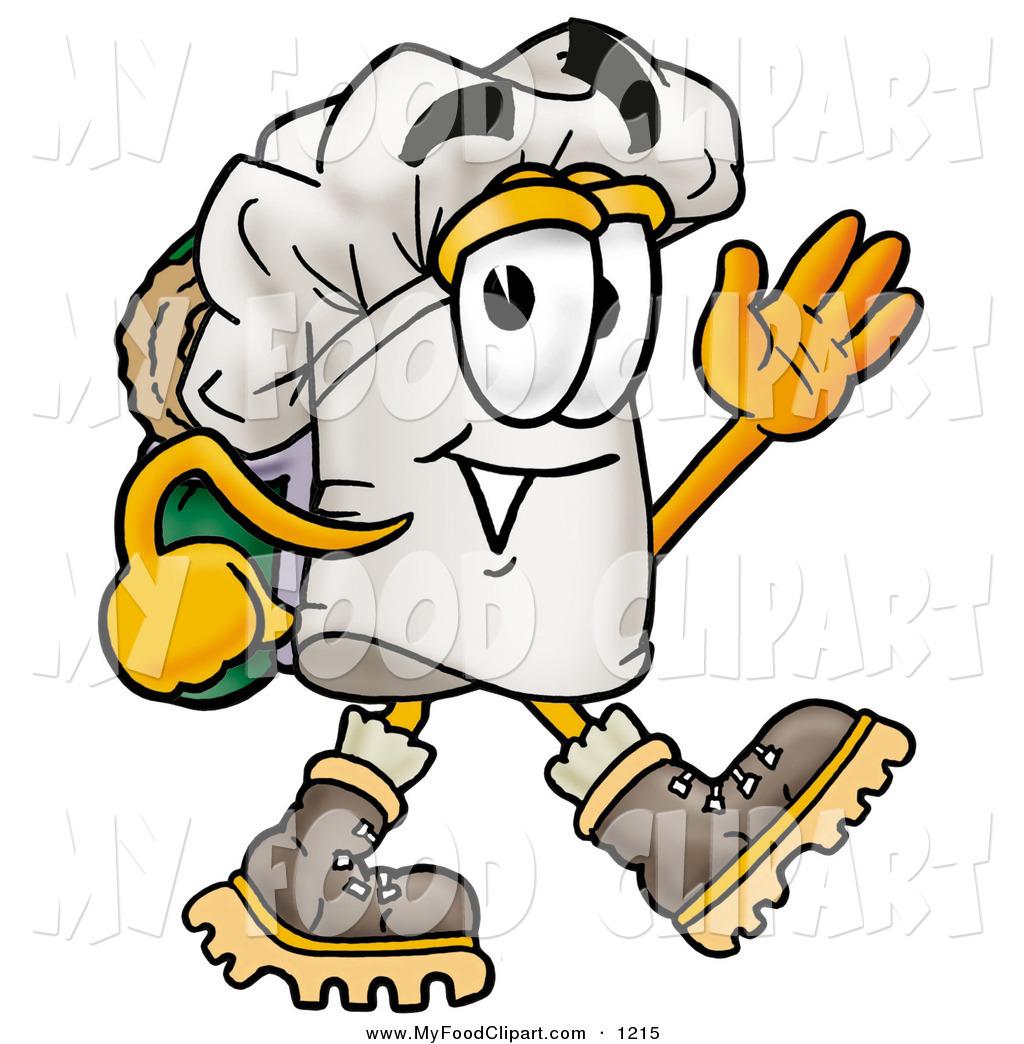 Food Clip Art of a Smiling Chefs Hat Mascot Cartoon Character.