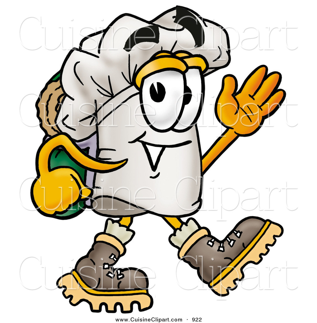 Cuisine Clipart of a Smiling Chefs Hat Mascot Cartoon Character.