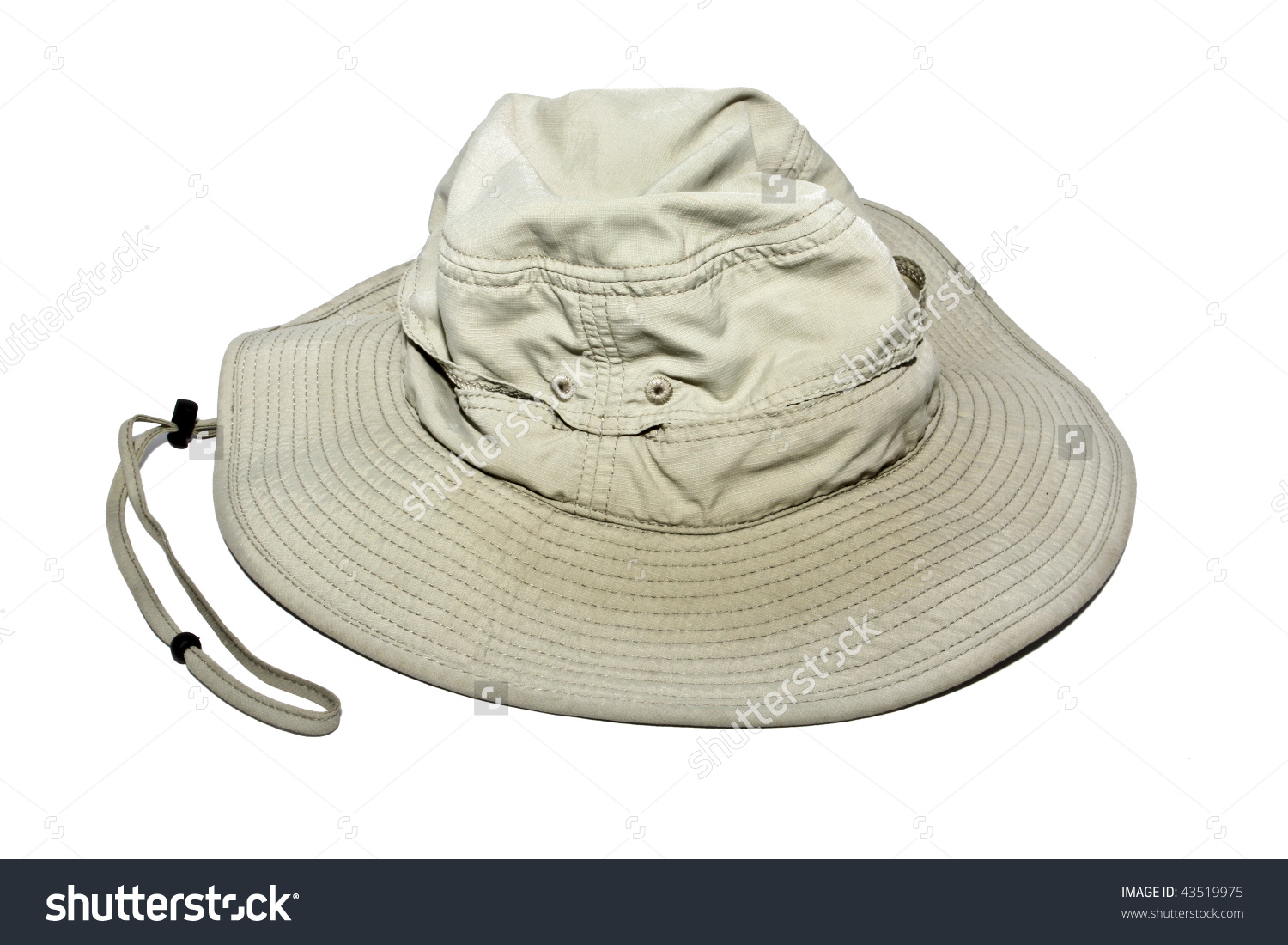 Floppy Outdoors Hiking Hat Isolated On A White Background Stock.