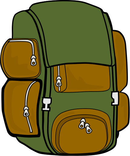 Hiking Backpack Clipart.