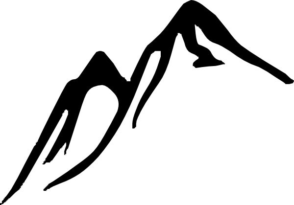 Mountain Hiking Clip Art.
