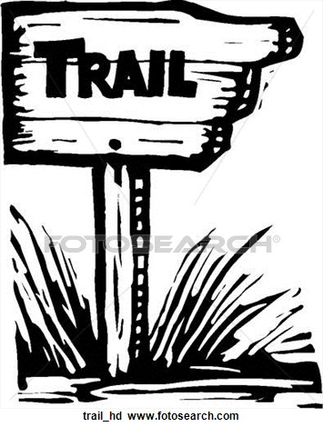 Walking trail clipart.