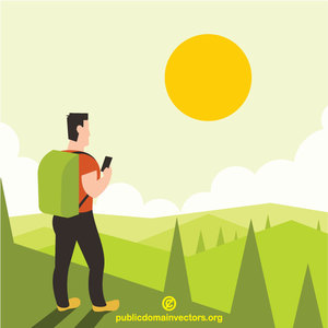 48 hiking free clipart.