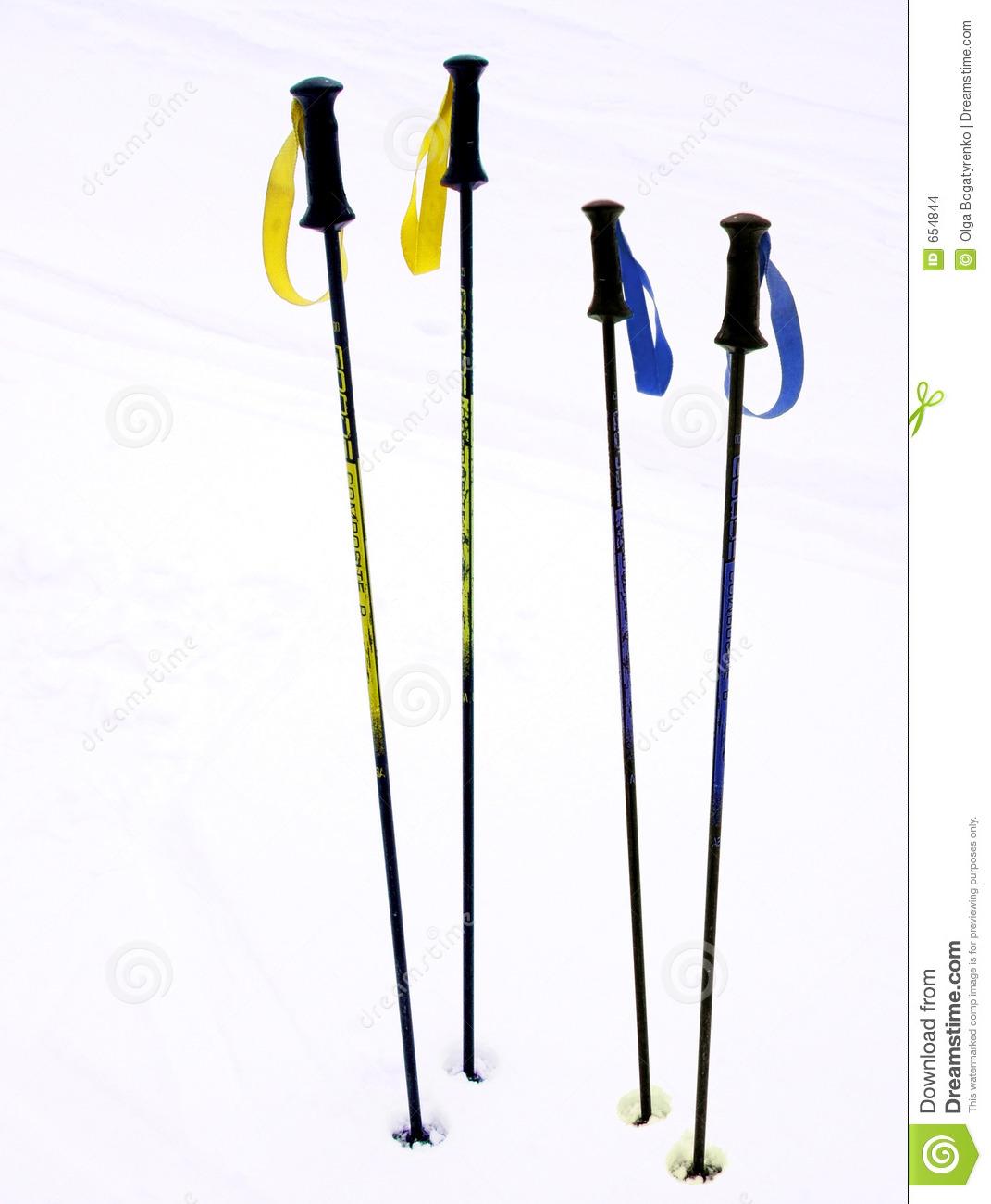 Ski Poles Stock Images.