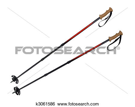 Stock Images of Ski and Hiking Poles k3061586.