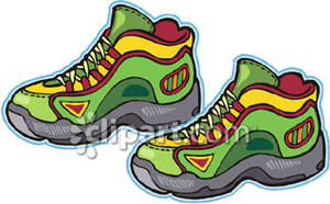 Hiking Boots Royalty Free Clipart Picture.