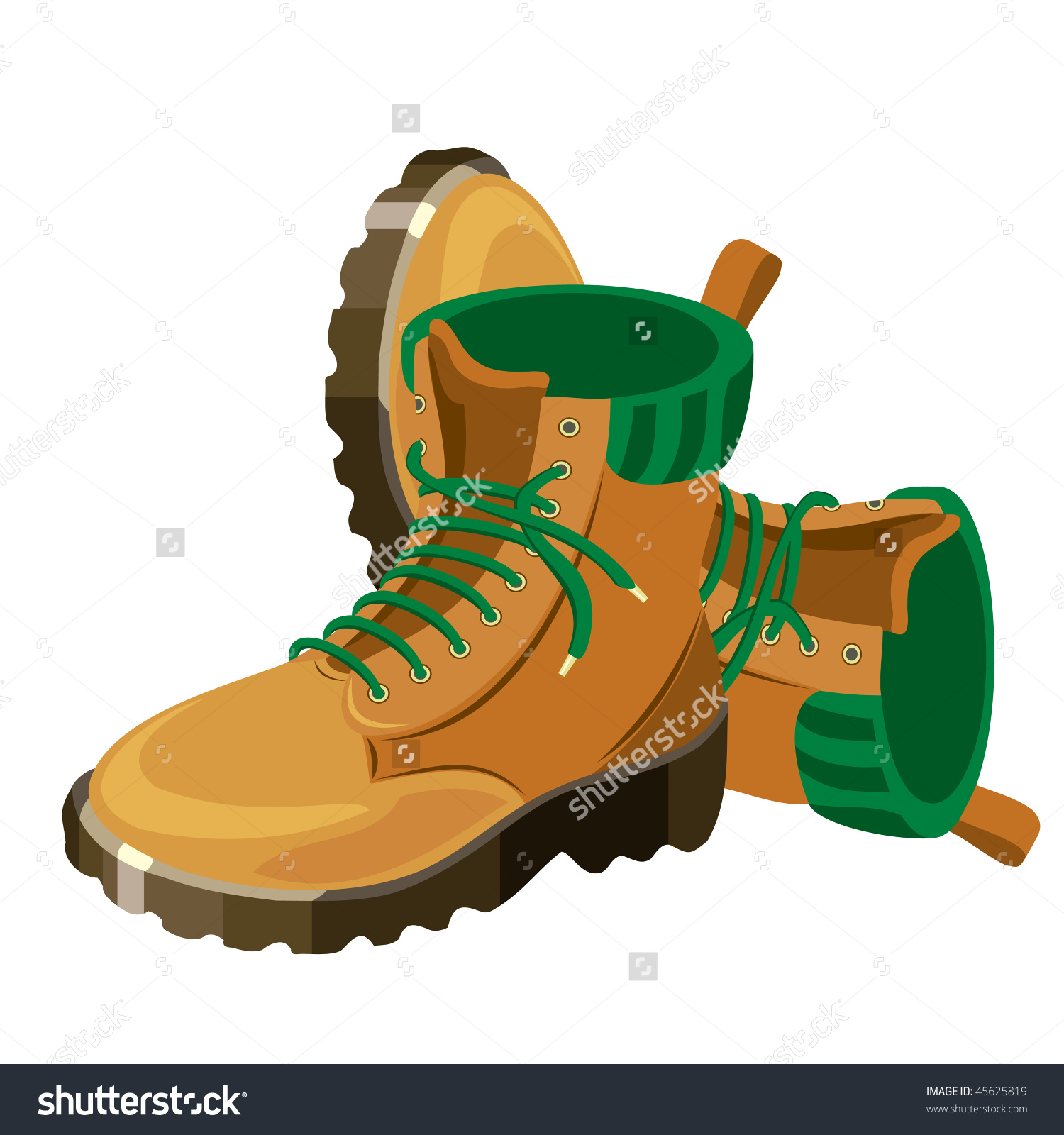 Hiking Shoes Clip Art.