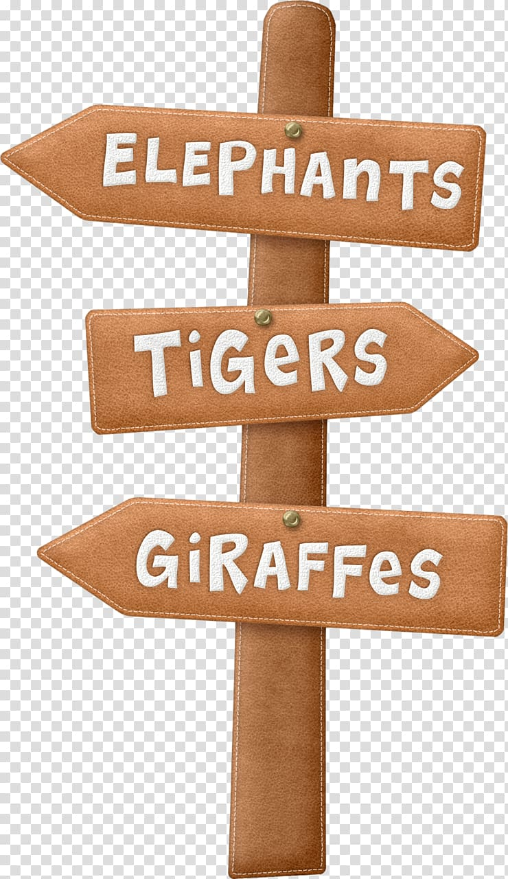 Elephants, tigers, and giraffes signage , Camping Campsite.