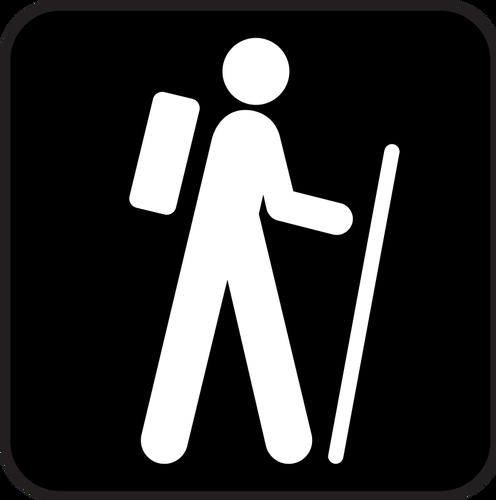 Hiking symbol.