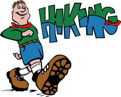 Hiking trails clipart.