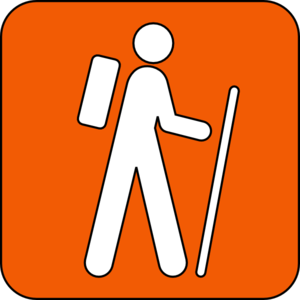 Hiking Trail Orange Clip Art at Clker.com.