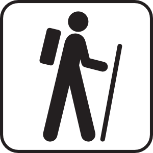 Hiking trail clipart.