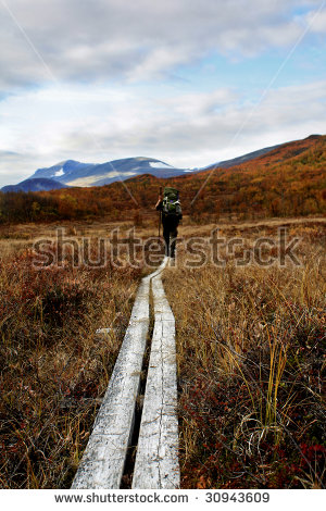 Long Distance Hiking Trail Stock Photos, Royalty.