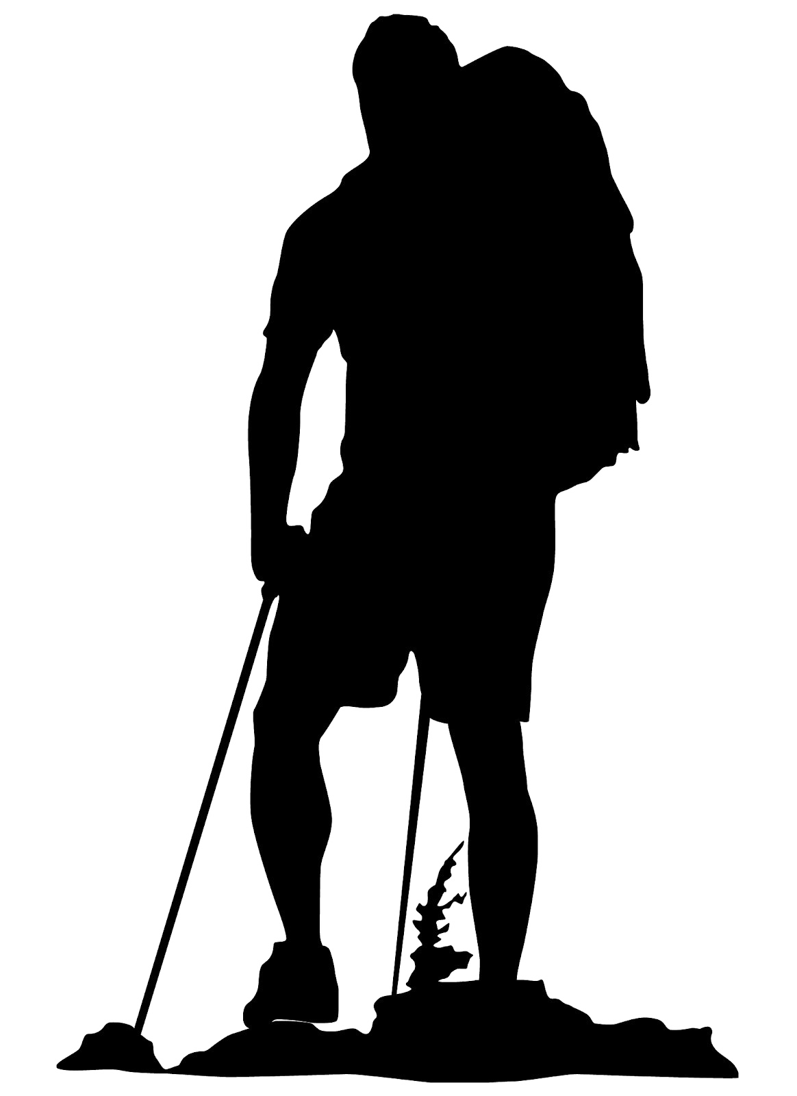 Clip art Hiking Backpacking Vector graphics Silhouette.