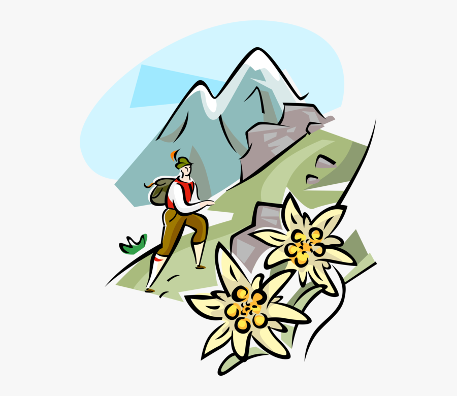 Clip Art Mountain Guide Alps Vector.