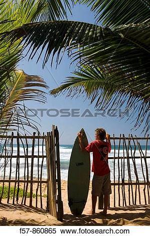 Stock Image of Young Surfer in Hikkaduwa, Sri Lanka f57.