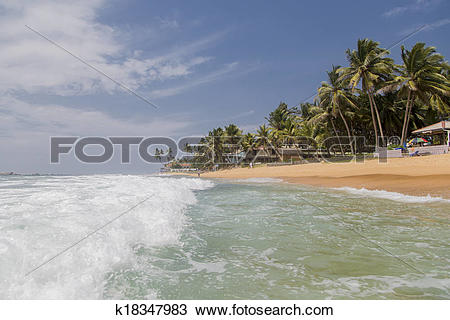Stock Photo of Hikkaduwa beach in Sri Lanka k18347983.