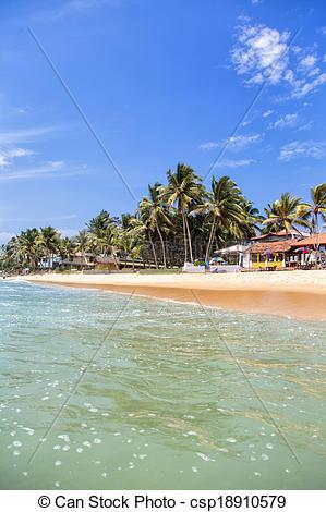 Picture of Hikkaduwa beach at Sri Lanka.