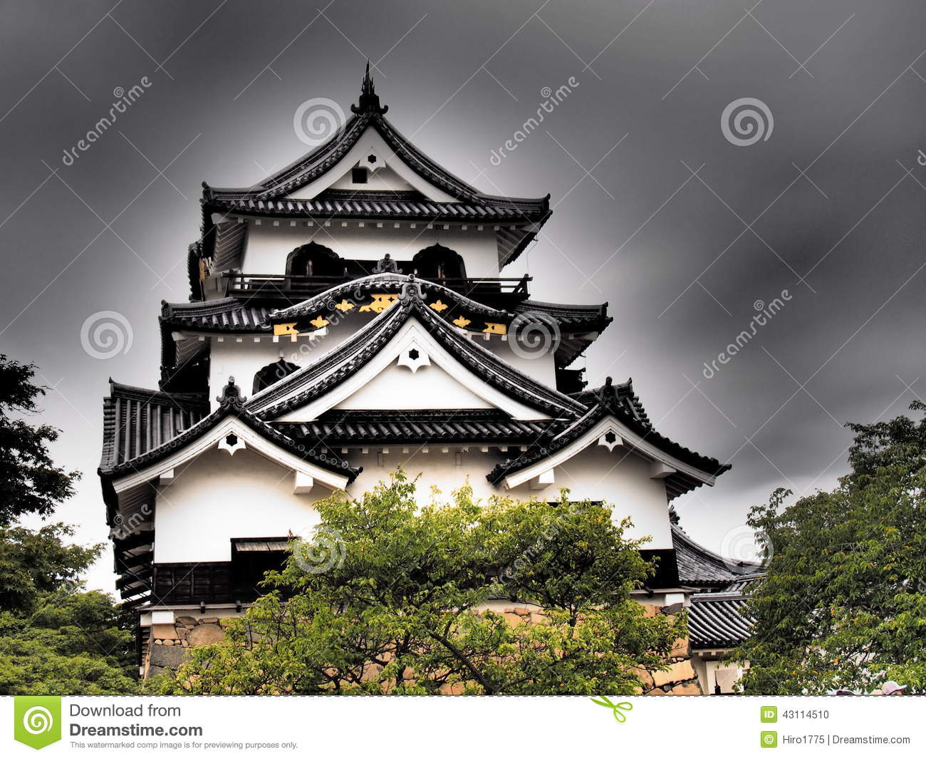 Hikone Castle In Shiga, Japan Stock Photo.