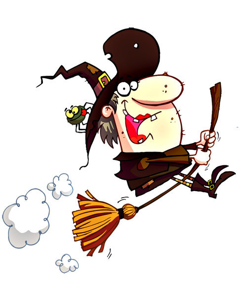 Funny Broom Hilda Witch Image, Scary Witch Image, Broom Hilda.