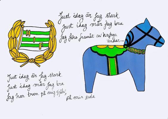 A4 illustration, titled Hammarby Fotboll Dalahäst (literally.
