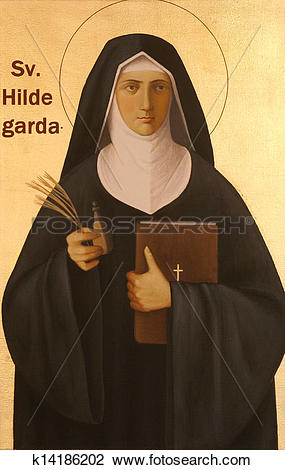Stock Photo of Blessed Hildegard von Bingen k14186202.