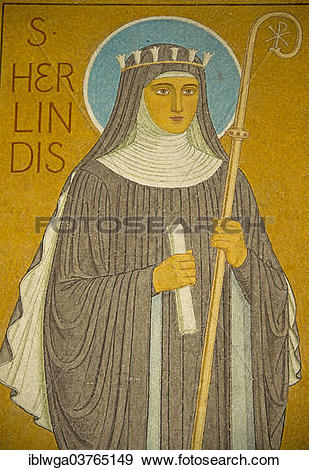 "Stock Photograph of ""Figure of Hildegard of Bingen in Eibingen."