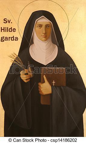 Stock Photography of Blessed Hildegard von Bingen csp14186202.