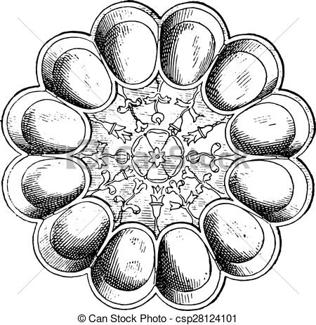 Vector Clipart of Egg dish in silver (Treasure of Hildesheim.