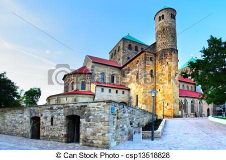 Stock Photo of St. Michael's Church, Hildesheim, Germany.
