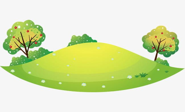 Green Cartoon Hills PNG, Clipart, Cartoon Clipart, Fresh.