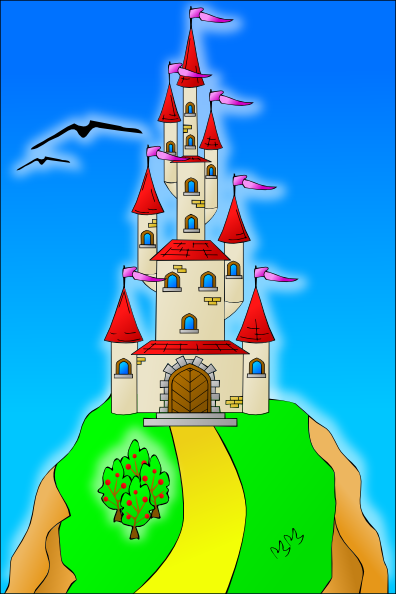 Castle On The Hill Clip Art at Clker.com.