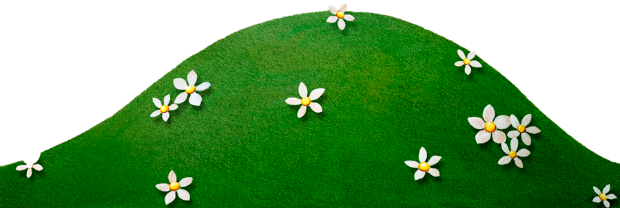 Transparent grass hill clipart.