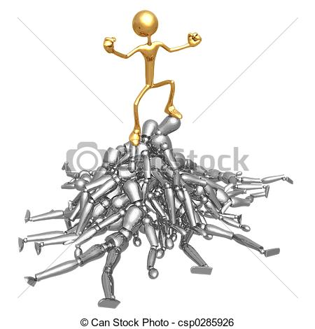 Stock Illustration of King Of the Hill !.