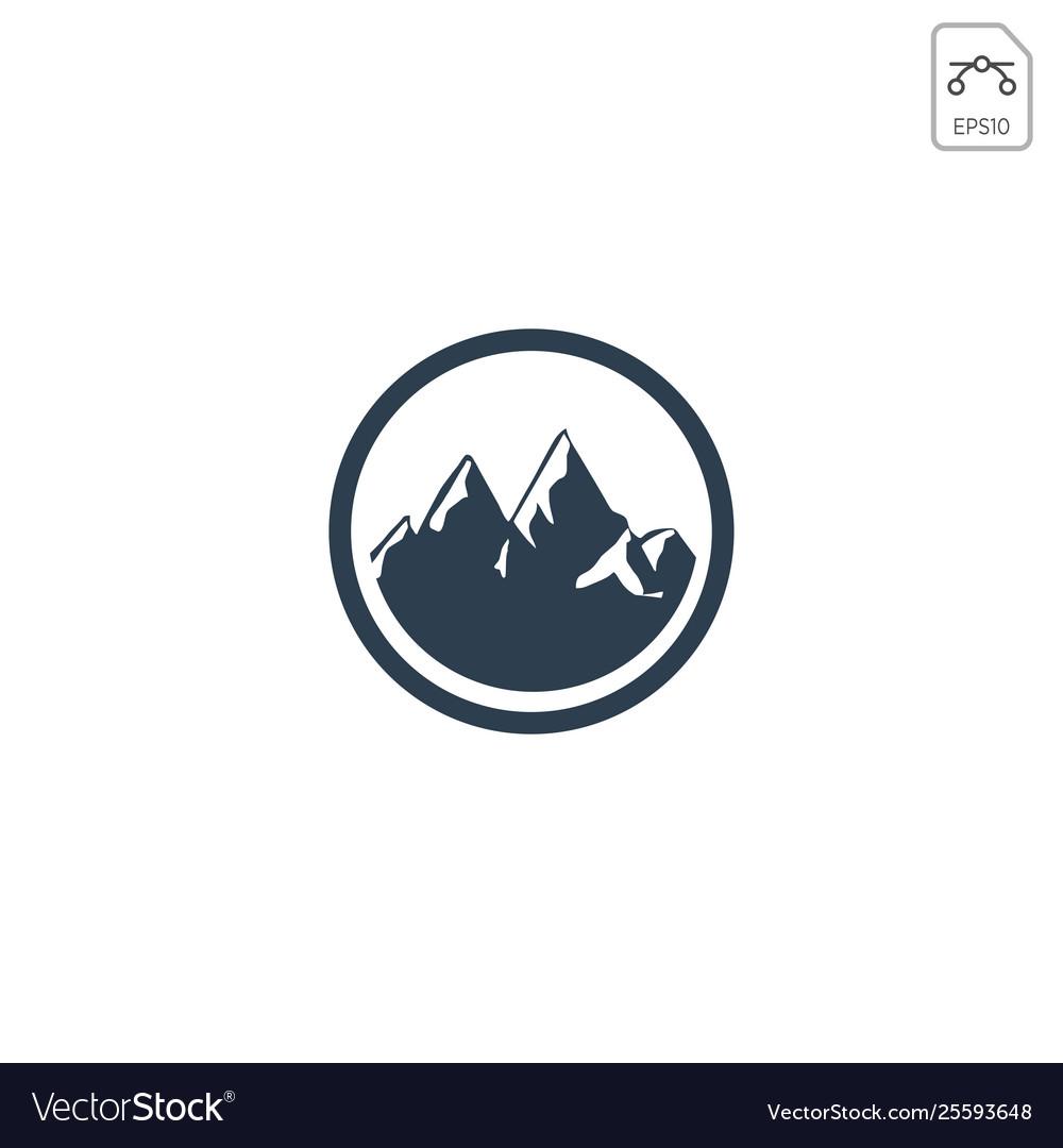 Mountain hill logo design icon isolated.