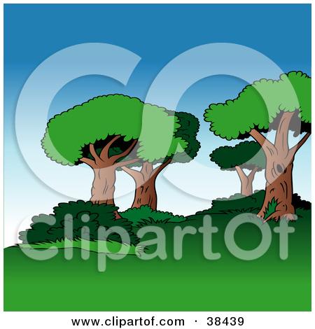 Clipart Illustration of a Dead Fallen Tree Trunk by dero #38346.