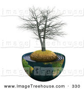 Royalty Free Stock Tree Designs of Planets.