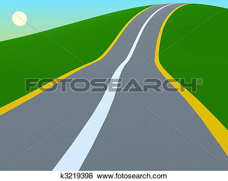 Stock Illustration of Road to the hills k3219398.