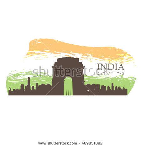 Delhi Skyline Stock Images, Royalty.